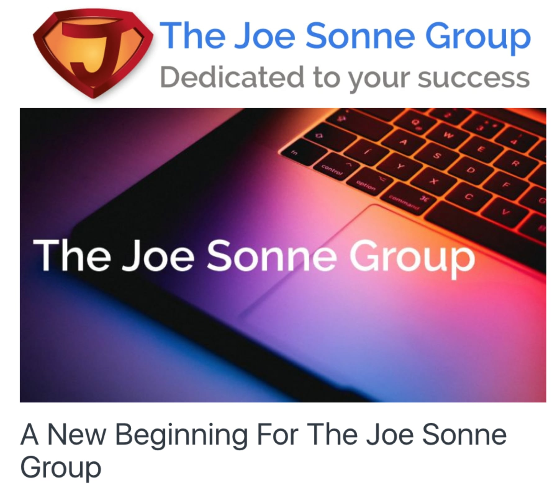 The Joe Sonne Newsletter